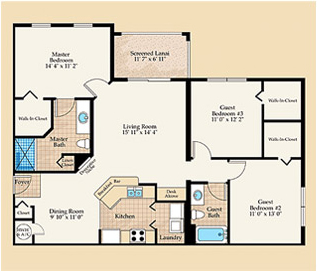 Monaco Floorplan at Positano Place at Naples