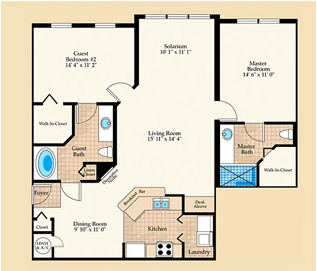Riviera Floorplan at Positano Place at Naples