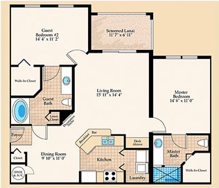 Tuscany Floorplan at Positano Place at Naples