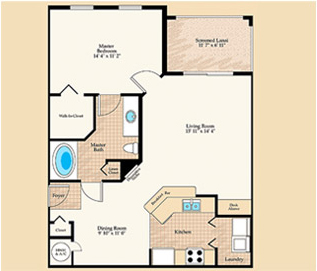 Verona Floorplan at Positano Place at Naples